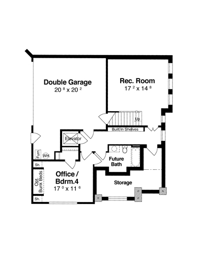 Ground Level image of Featured House Plan: BHG - 6353