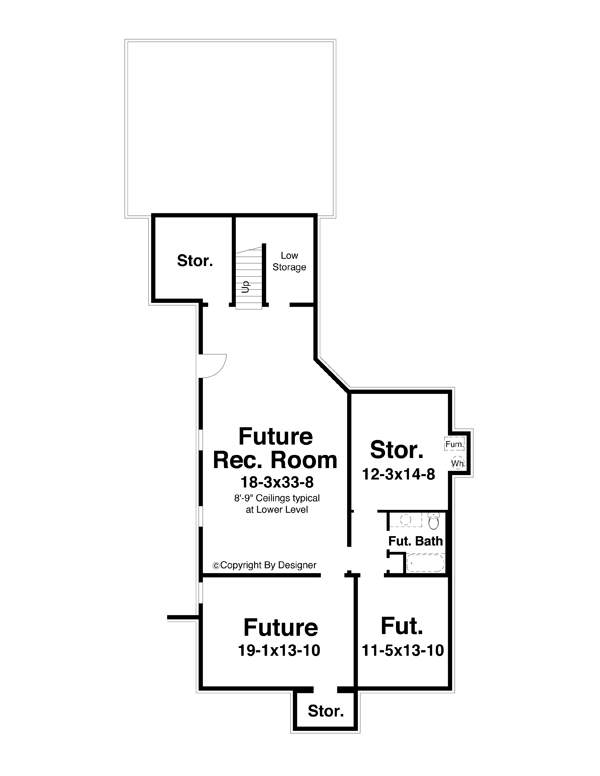 Lower Level image of Featured House Plan: BHG - 5823