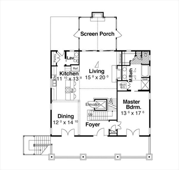 First Floor image of Featured House Plan: BHG - 7191