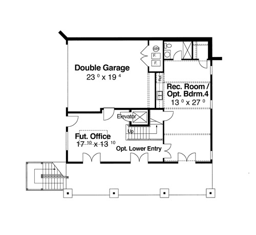 Lower Level image of Featured House Plan: BHG - 7191