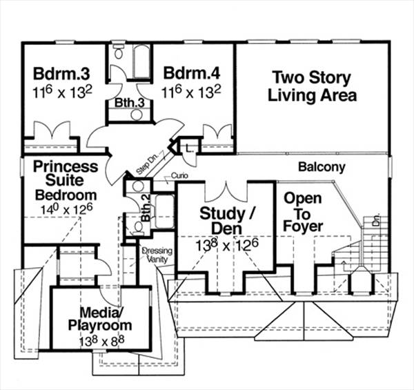 Second Floor image of Featured House Plan: BHG - 6787
