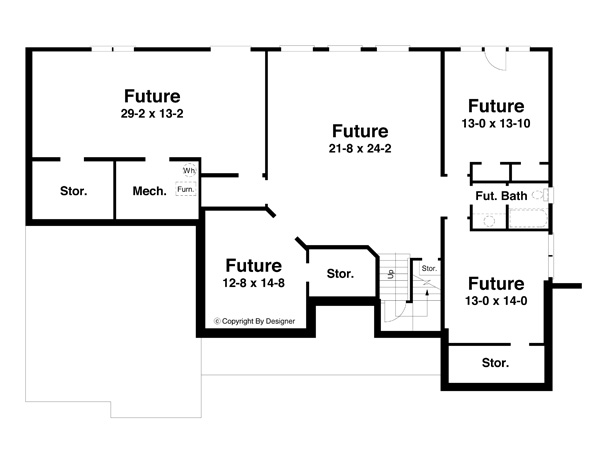 Lower Level image of Featured House Plan: BHG - 6787