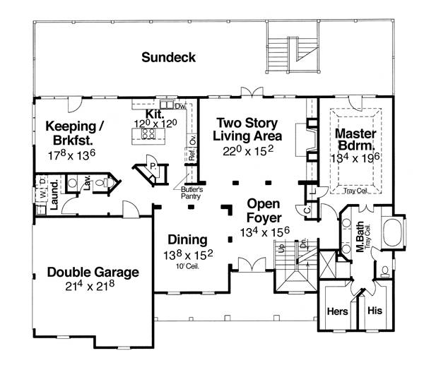 First Floor image of Featured House Plan: BHG - 6787
