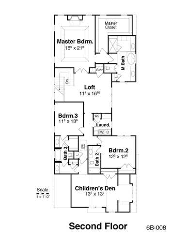 Second Floor image of Featured House Plan: BHG - 7915