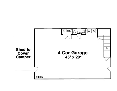 First Floor image of Featured House Plan: BHG - 8306