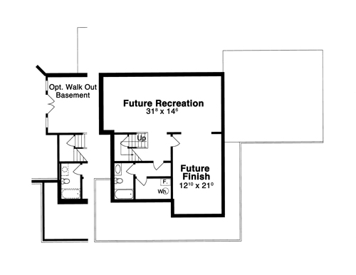 Lower Level image of Featured House Plan: BHG - 8068