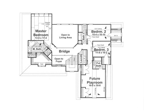 Second Floor image of Featured House Plan: BHG - 1183