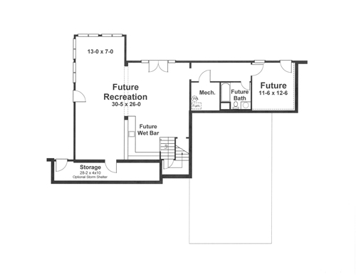 Lower Level image of Featured House Plan: BHG - 1183