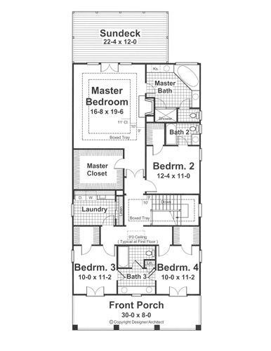 Second Floor image of Featured House Plan: BHG - 1211