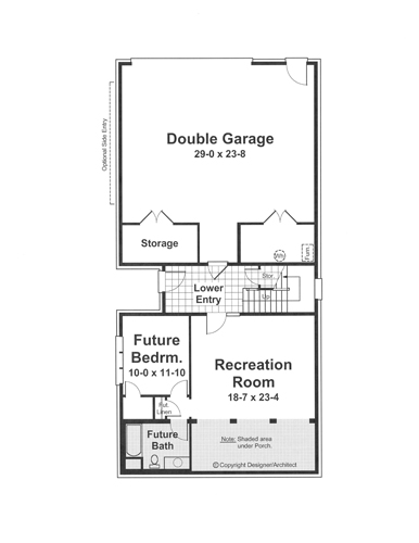 Lower Level image of Featured House Plan: BHG - 1211