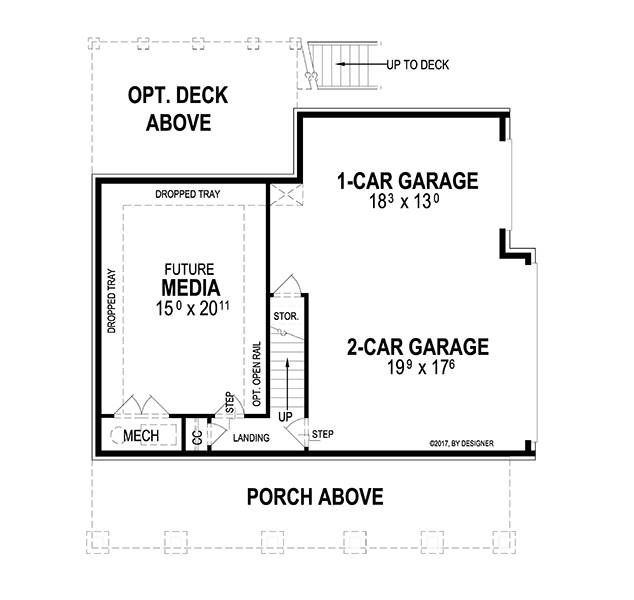 Lower Level image of Featured House Plan: BHG - 2054