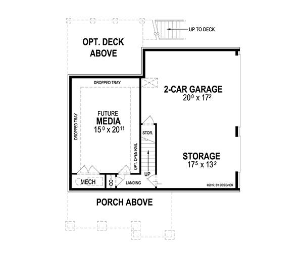 Lower Level image of Featured House Plan: BHG - 2055