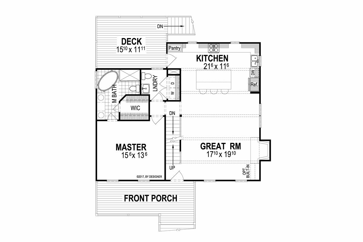 First Floor image of Featured House Plan: BHG - 2055