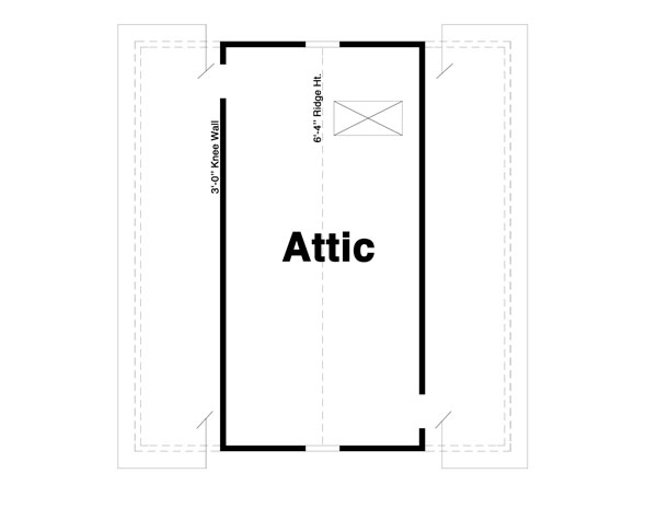 Attic image of Featured House Plan: BHG - 8089
