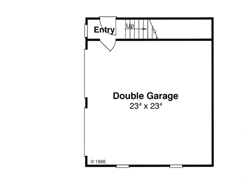 Garage w/ Apt. Above image of Featured House Plan: BHG - 8090