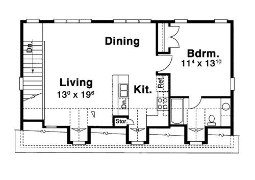 Garage Apt. image of Featured House Plan: BHG - 8304