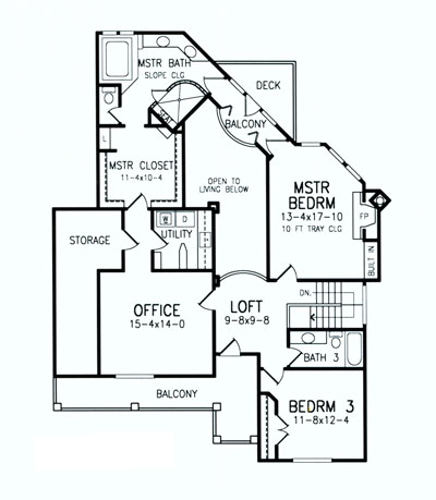 Second Floor Plan image of Featured House Plan: BHG - 8458