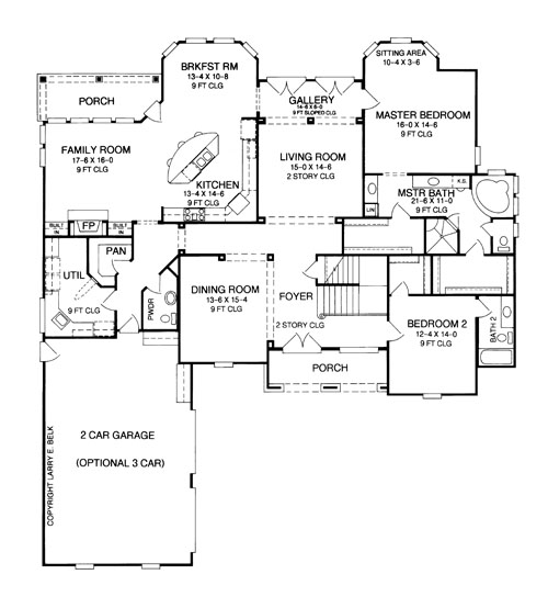 First Floor Plan image of Featured House Plan: BHG - 8358