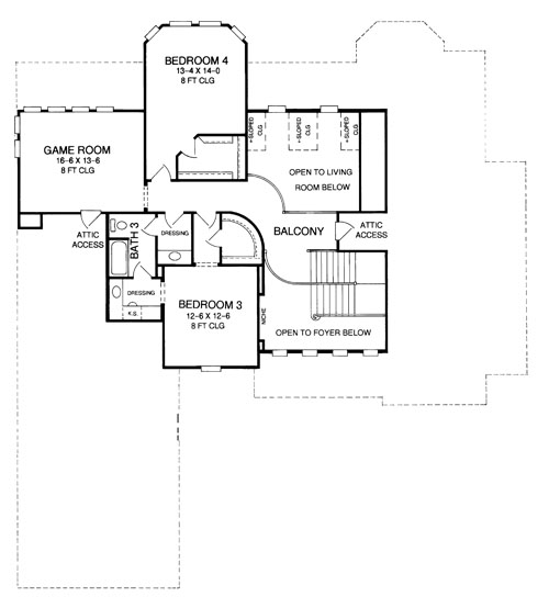 Second Floor Plan image of Featured House Plan: BHG - 8358
