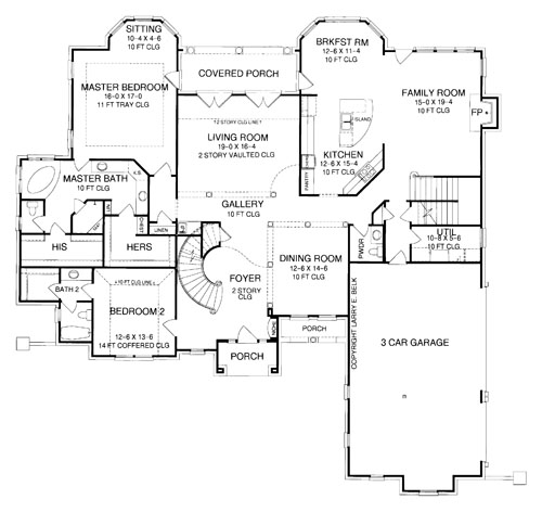 First Floor Plan image of Featured House Plan: BHG - 8363