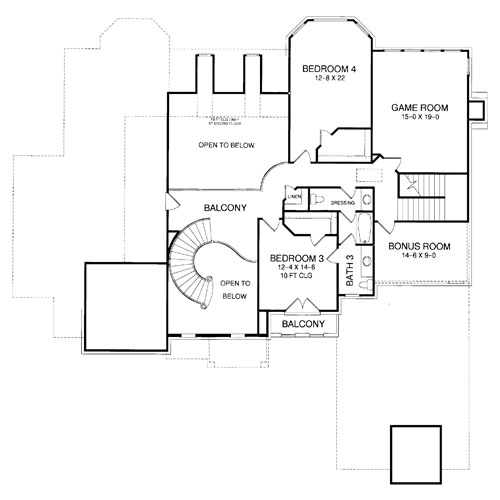 Second Floor Plan image of Featured House Plan: BHG - 8363