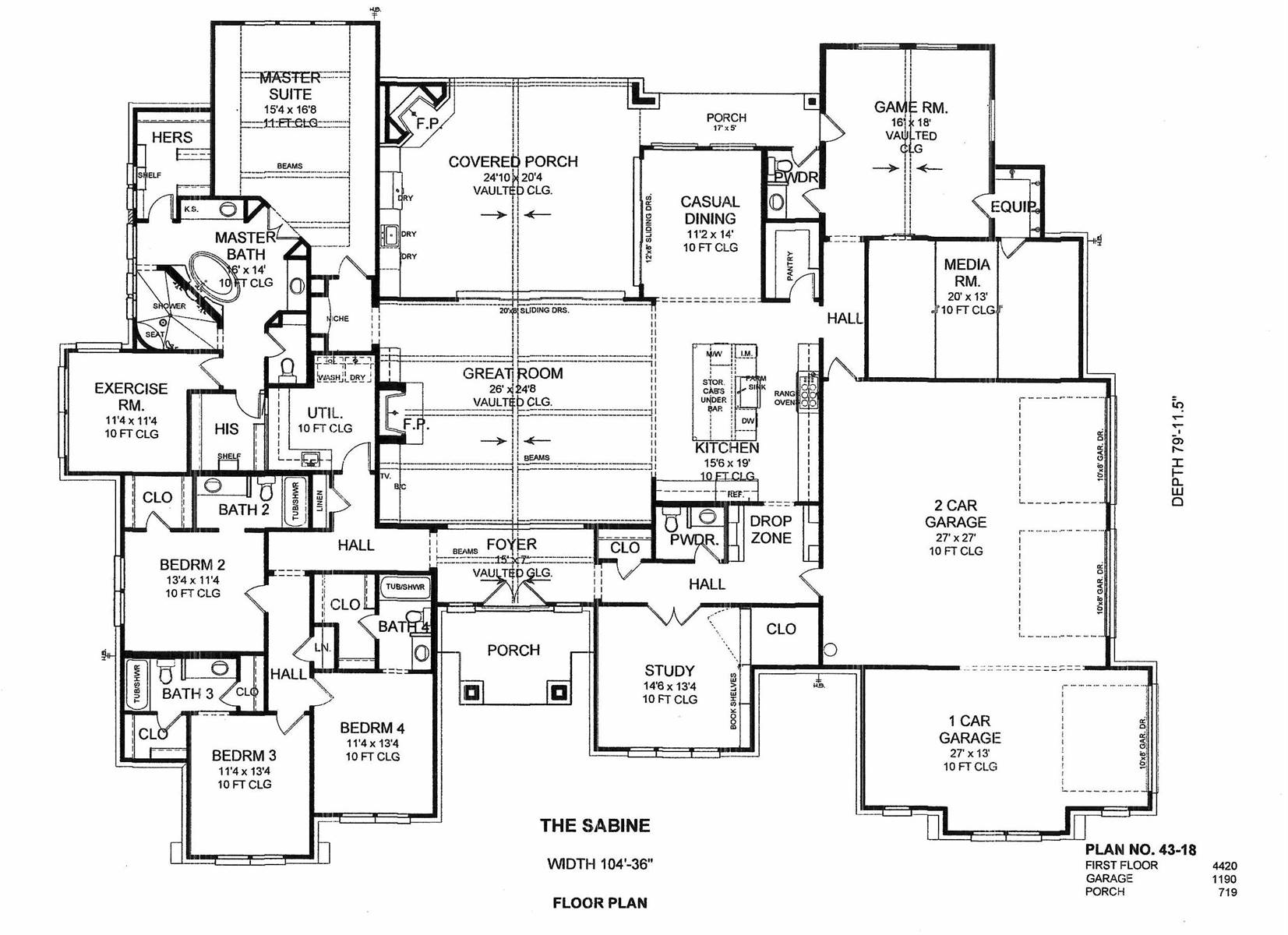 1st Floor image of Featured House Plan: BHG - 2207