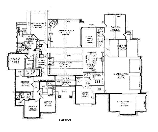 First Floor Plan image of Featured House Plan: BHG - 2207