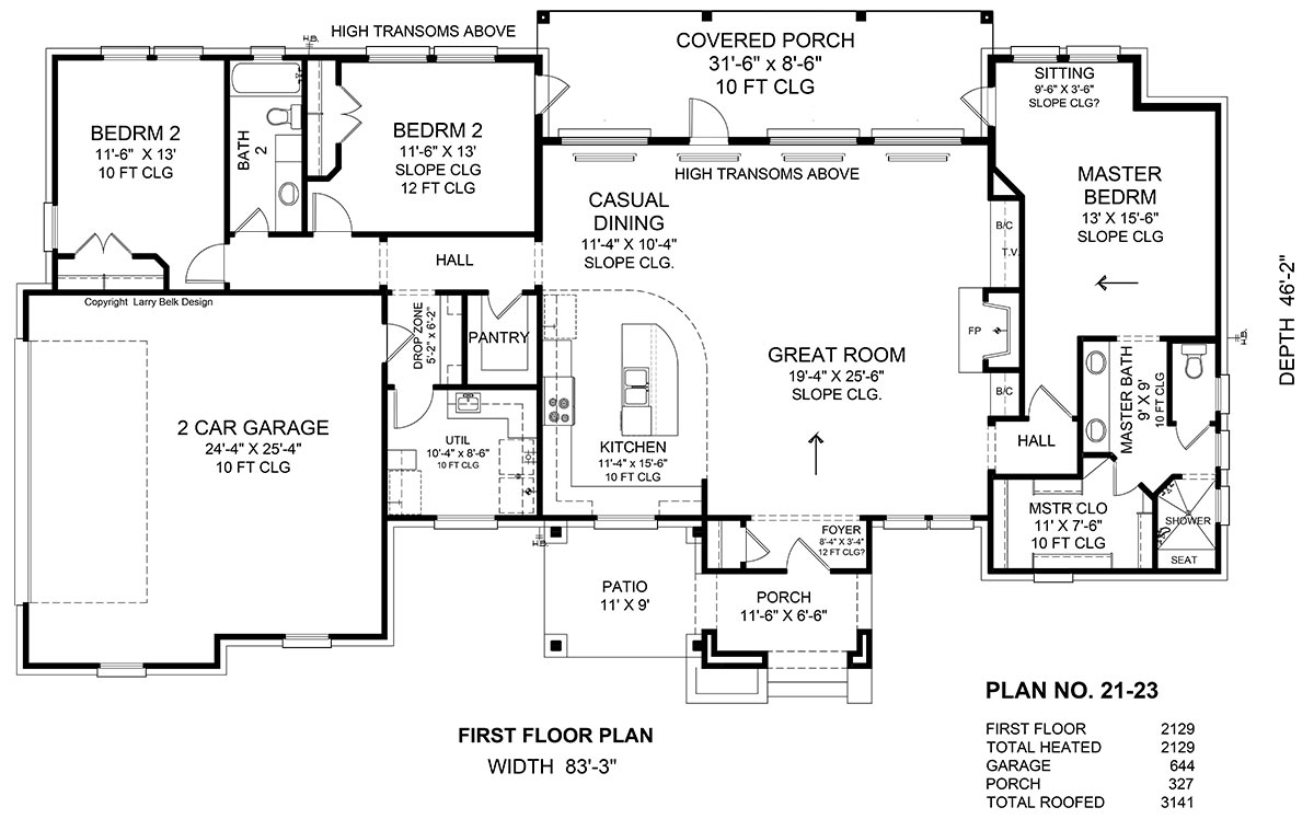 First Floor Plan image of Featured House Plan: BHG - 1945