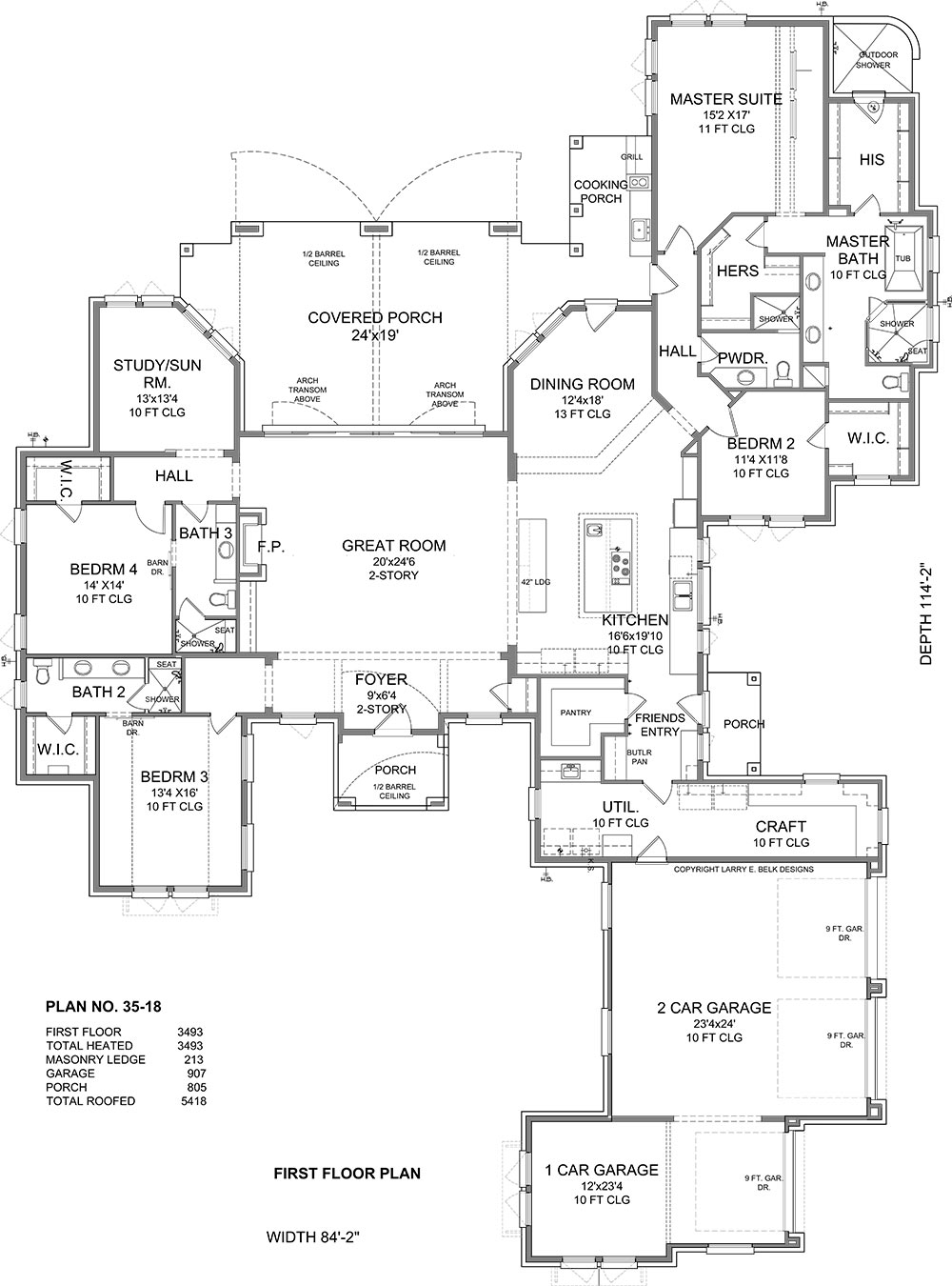 First Floor Plan image of Featured House Plan: BHG - 1944