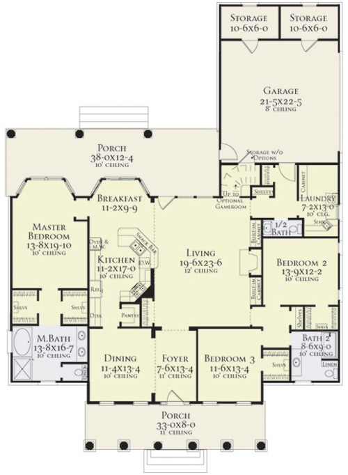 First Floor Plan image of Featured House Plan: BHG - 5556