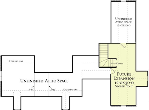 Second Floor Plan image of Featured House Plan: BHG - 5558