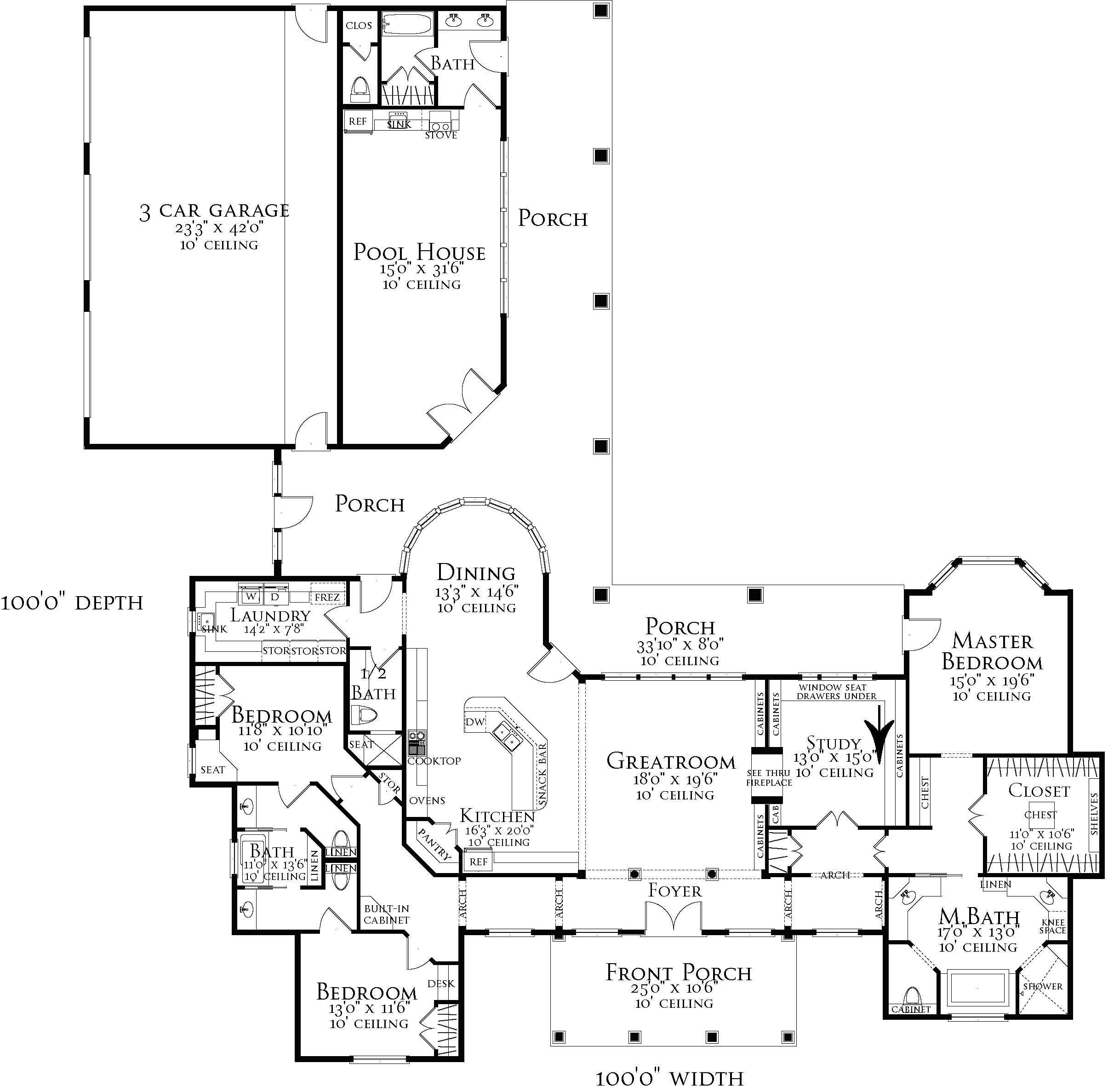 Floor Plan image of Featured House Plan: BHG - 3096