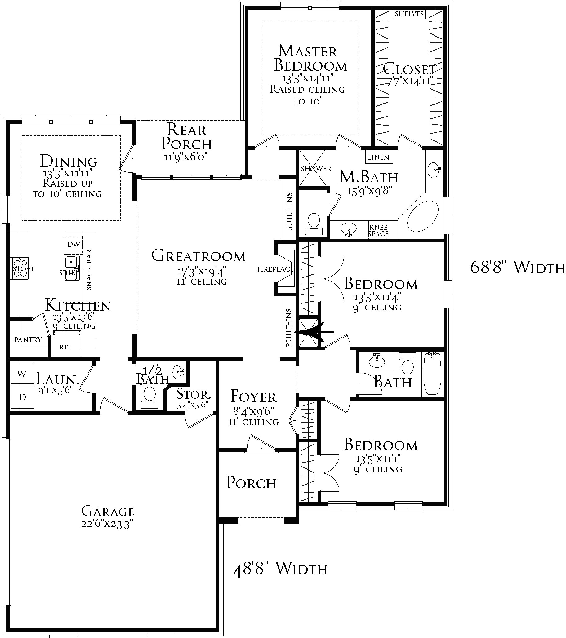 Floor Plan image of Featured House Plan: BHG - 3098