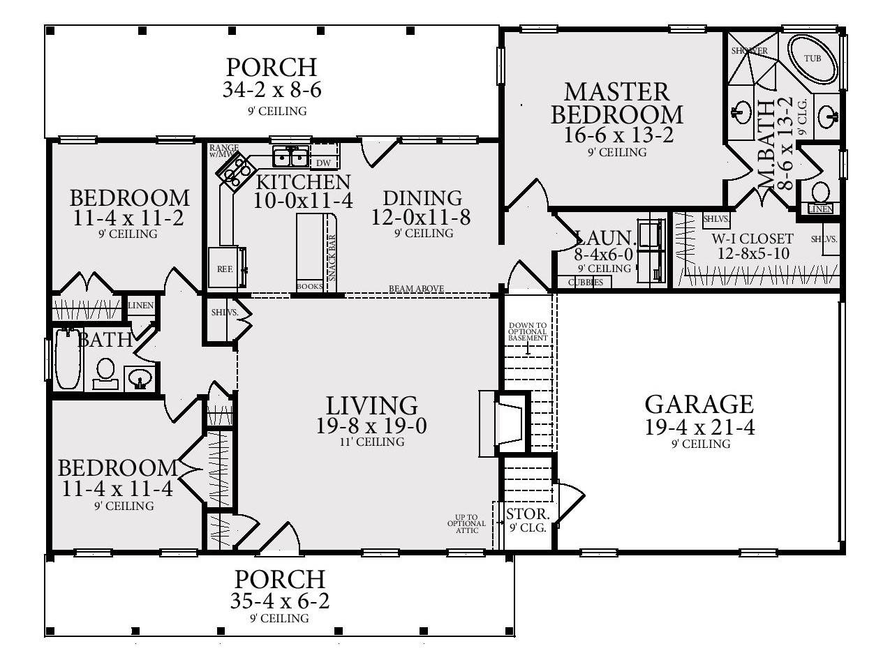 Floor Plan image of Featured House Plan: BHG - 4309
