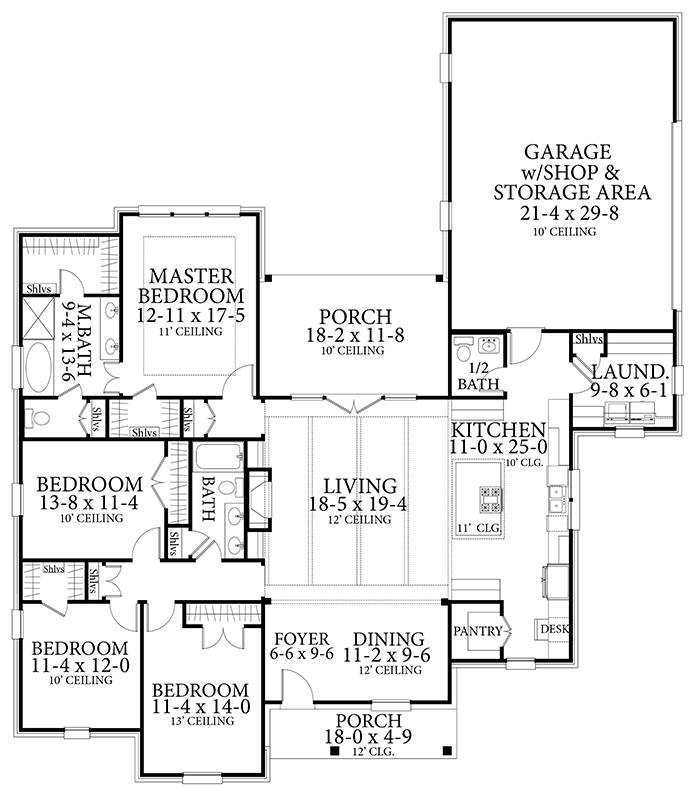 Floor Plan image of Featured House Plan: BHG - 7448