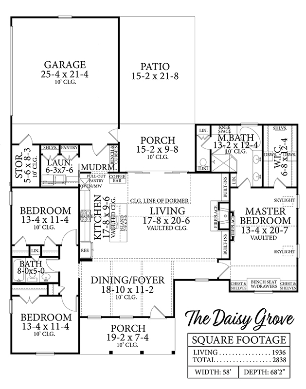 1st Floor image of Featured House Plan: BHG - 8659