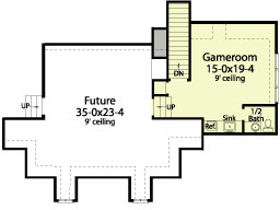 Second Floor Plan image of Featured House Plan: BHG - 5609