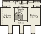 Second Floor Plan image of Featured House Plan: BHG - 3484