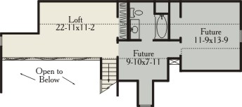 Second Floor Plan image of Featured House Plan: BHG - 3498