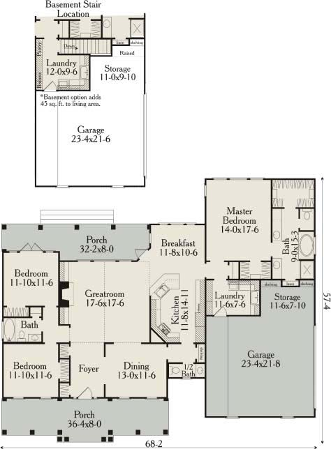 First Floor Plan image of Featured House Plan: BHG - 3659