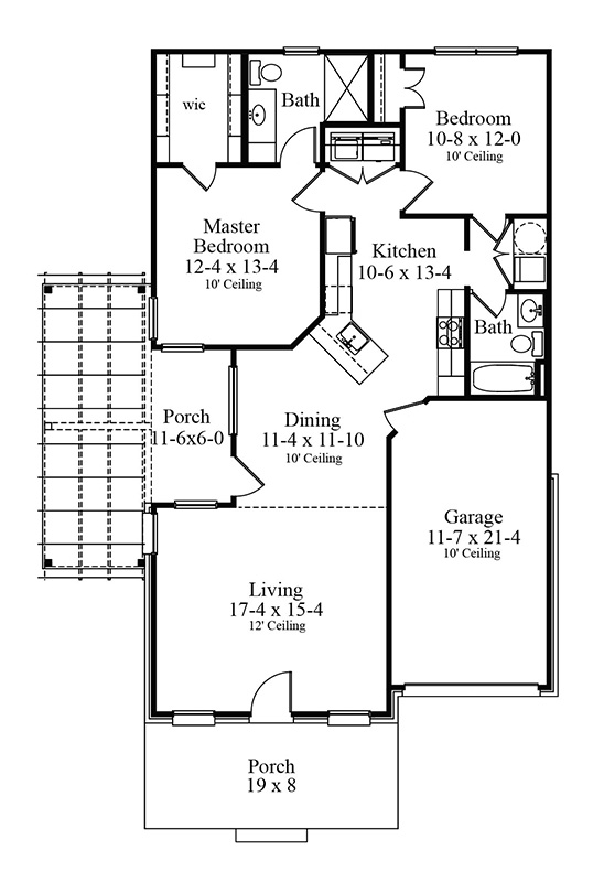 Floor Plan image of Featured House Plan: BHG - 1396