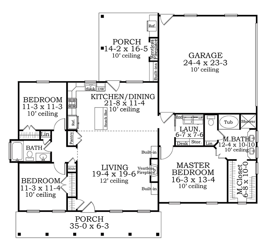 Floor Plan image of Featured House Plan: BHG - 3420