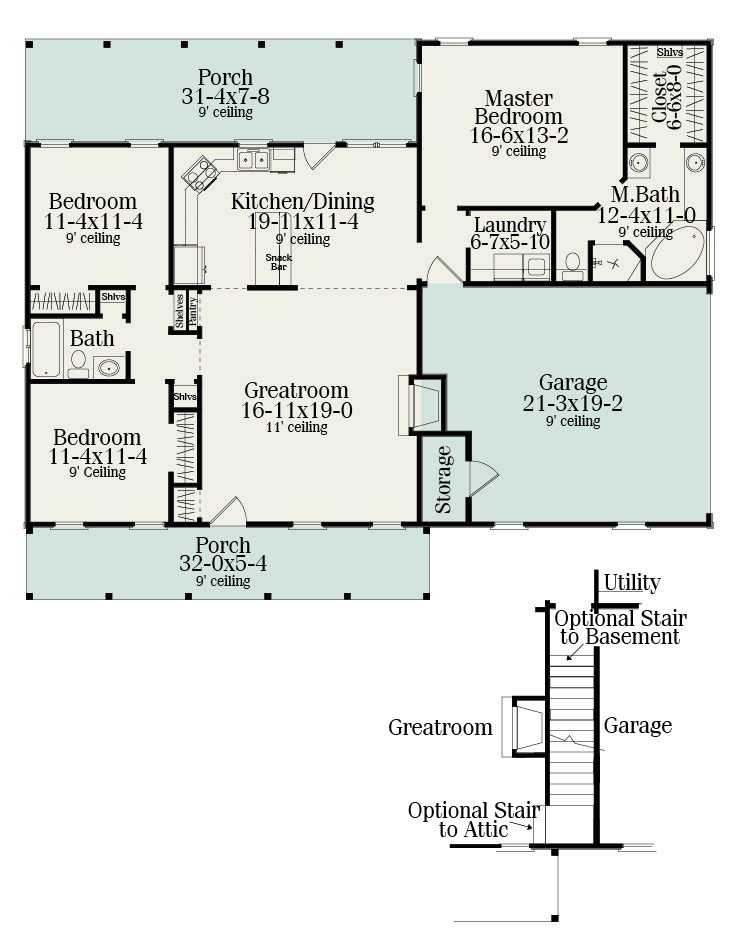 Floor Plan image of Featured House Plan: BHG - 5458