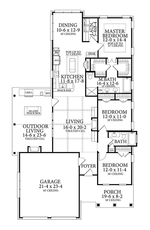 Floor Plan image of Featured House Plan: BHG - 7217