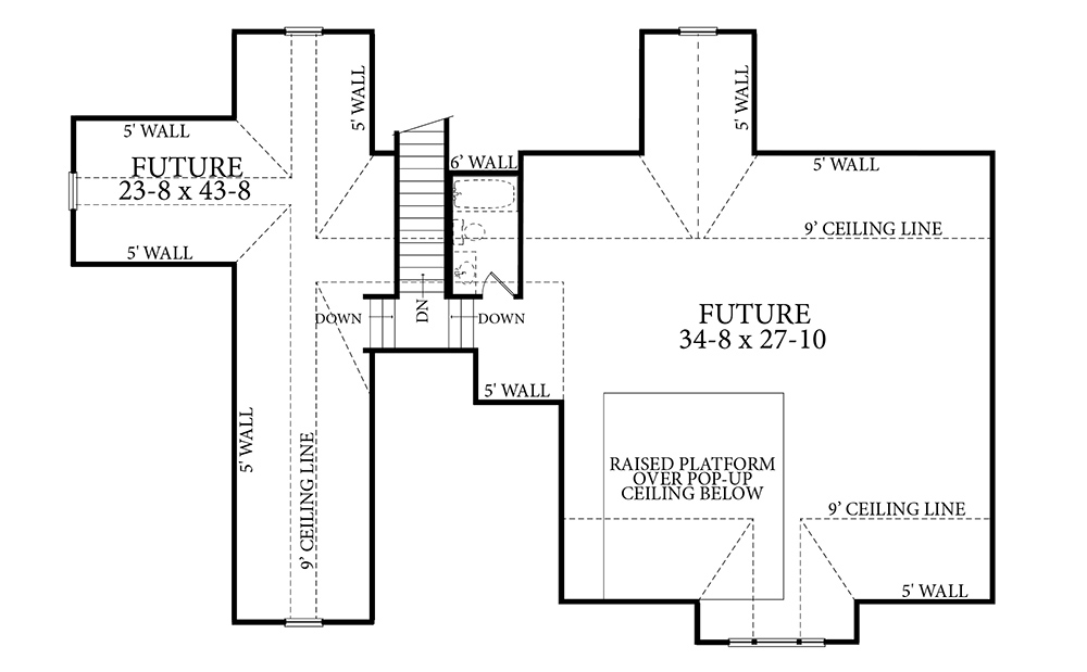Optional or Future Floor Plan image of Featured House Plan: BHG - 7263
