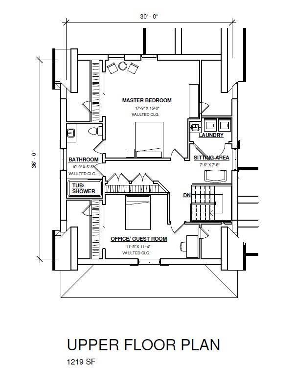 2nd Floor Plan image of Featured House Plan: BHG - 3405