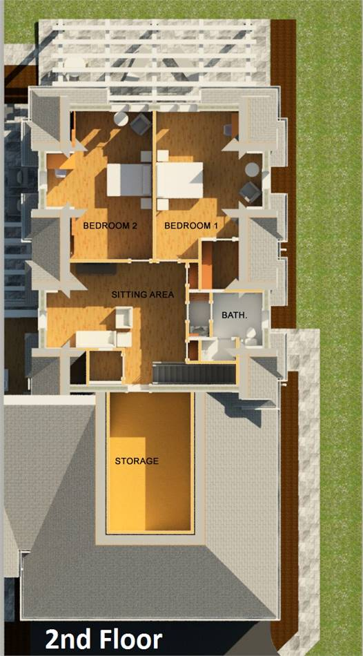 2nd Floor Plan image of Featured House Plan: BHG - 3406