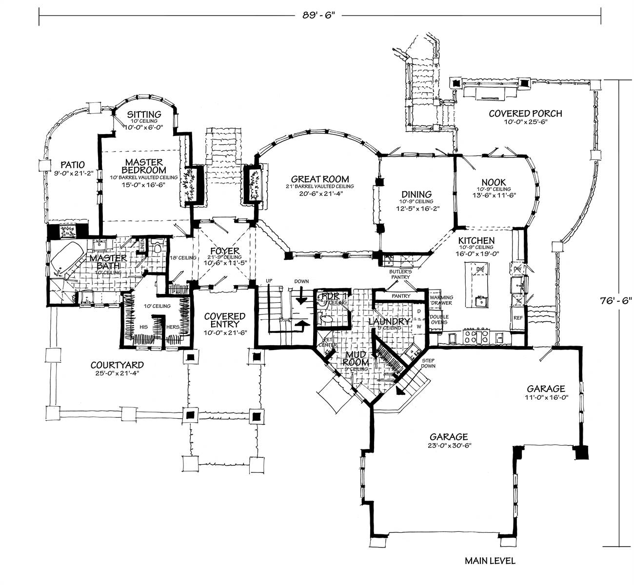 1st Floor Plan image of Featured House Plan: BHG - 7115