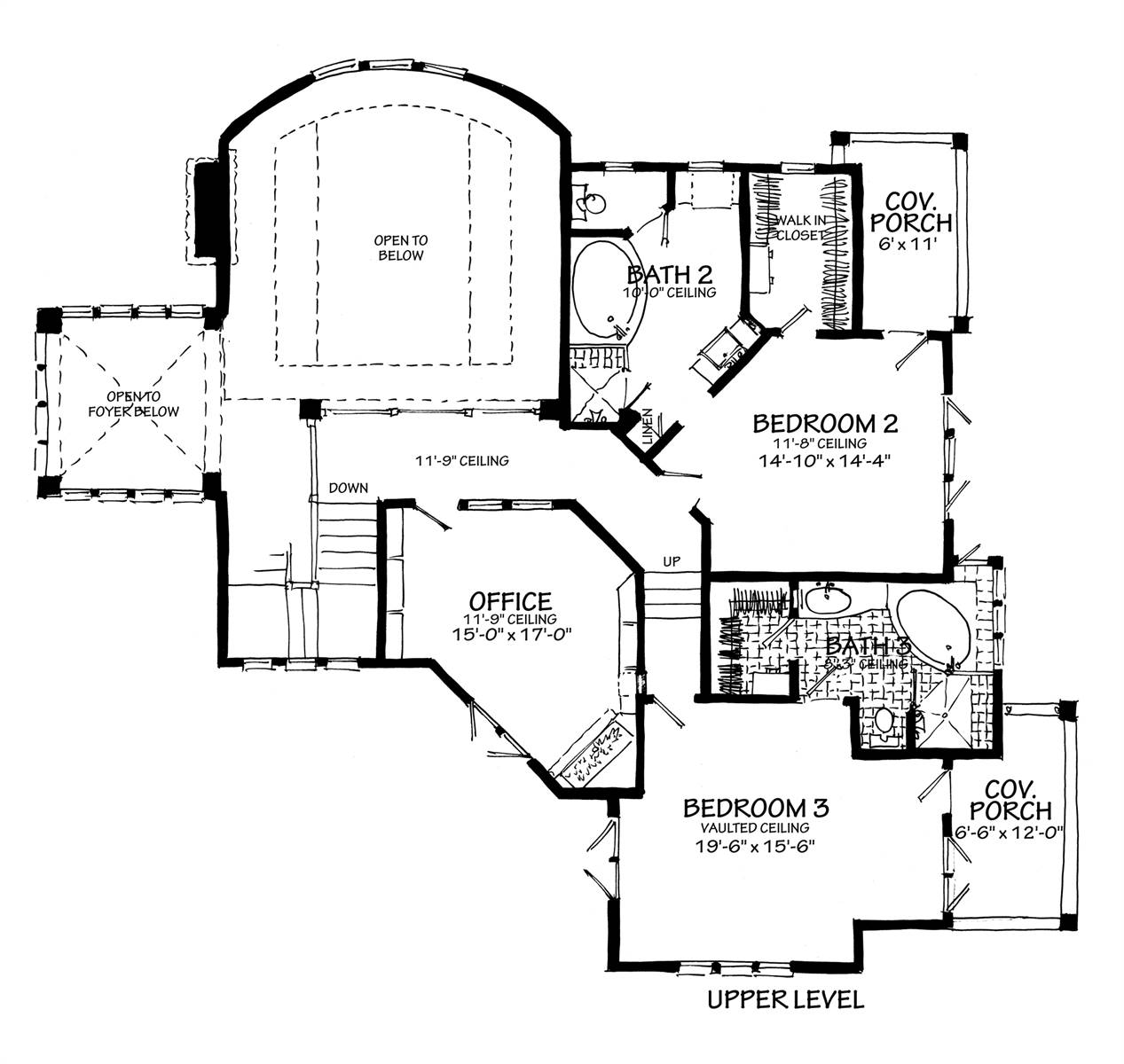 2nd floor plan image of Featured House Plan: BHG - 7115