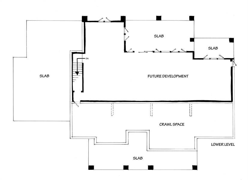 Lower Level Floor Plan image of Featured House Plan: BHG - 7300